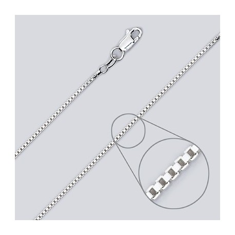 1.4 MM Sterling Silver Box Chain With Lobster Claw