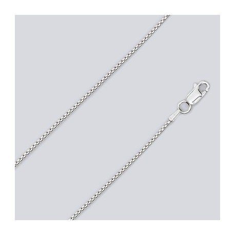 1.3 MM Sterling Silver Box Chain With Lobster Claw