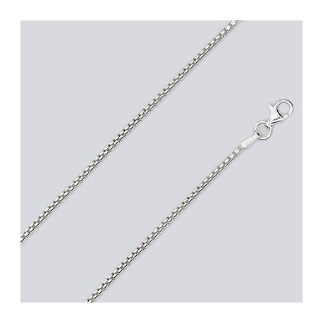 1.7 MM Sterling Silver Round Box Chain With Pear Lobster Claw