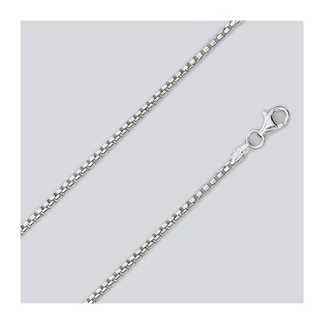 2 MM Sterling Silver Round Box Chain With Pear Lobster Claw