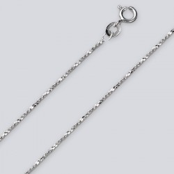 1.2 MM Sterling Silver Twist Chain With Spring Ring