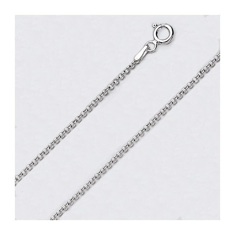 2.1 MM Sterling Silver Cable Chain With Spring Ring