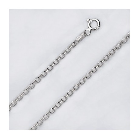 3.1 MM Sterling Silver Cable Chain With Spring Ring
