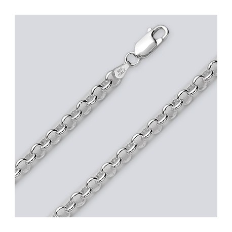 6.2 MM Sterling Silver Cable Chain With Lobster Claw