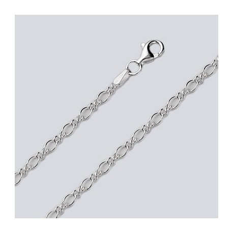 2.9 MM Sterling Silver Charm Chain With Pear Lobster Claw