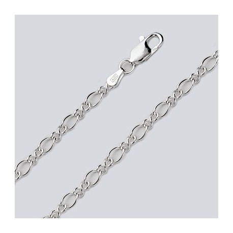 3.8 MM Sterling Silver Charm Chain With Lobster Claw
