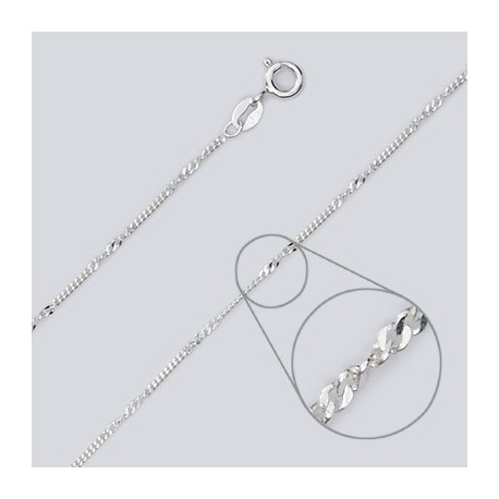 1.2 MM Sterling Silver Fancy Chain With Spring Ring