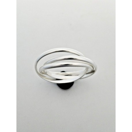 Sterling Silver Tied Bands Ring