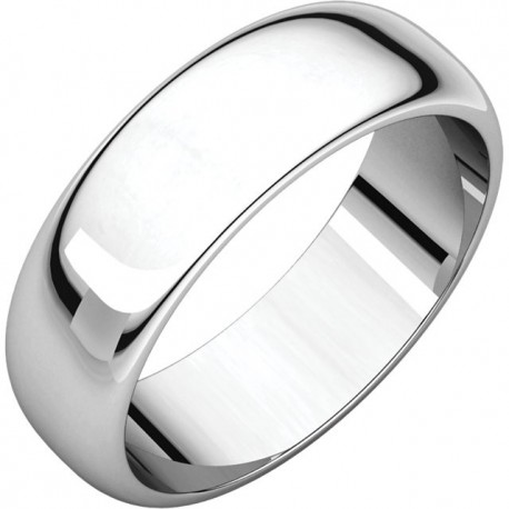 6 MM Sterling Silver Wedding Band
