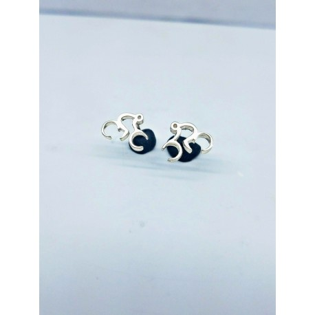 Sterling Silver Abstract Stud Earrings