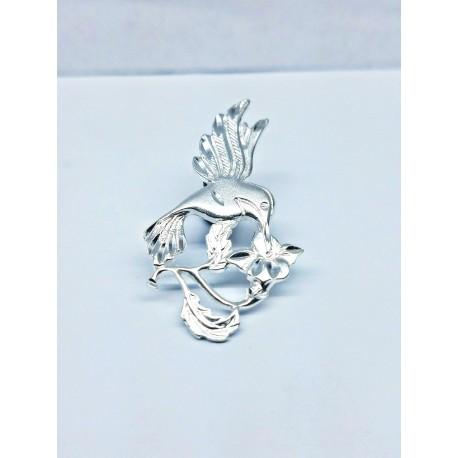 Sterling Silver Humming Bird Pendant