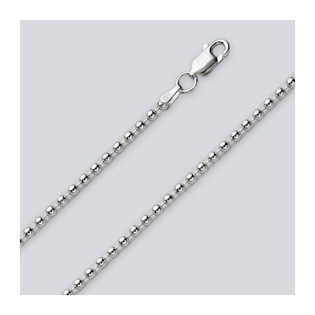 3 MM Sterling Silver Ball Chain With Lobster Claw