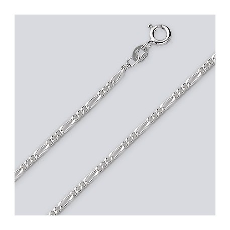2.1 MM Sterling Silver Figaro Chain With Spring Ring
