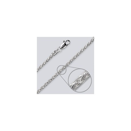 2.7 MM Sterling Silver Wheat Chain With Lobster Claw