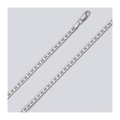 3 MM Sterling Silver Marina Chain With Lobster Claw