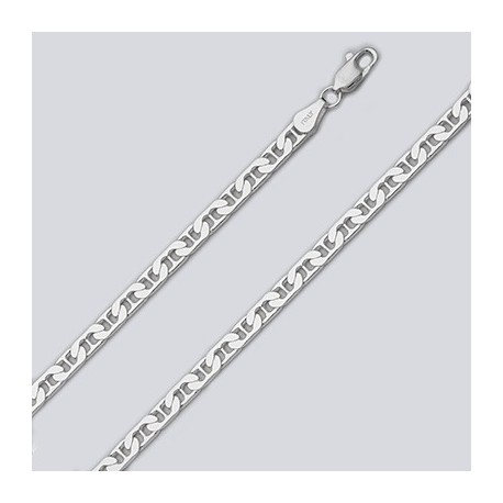 4.6 MM Sterling Silver Marina Chain With Lobster Claw