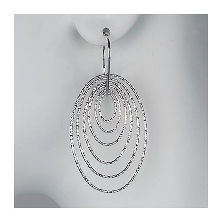 Sterling Silver Motion Pair of Earrings