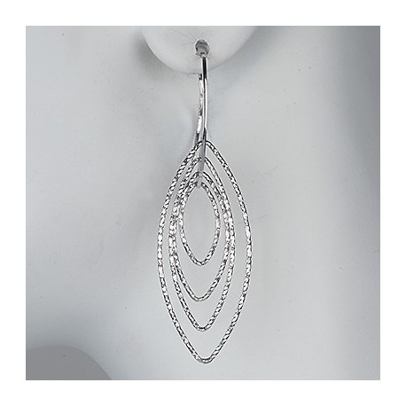 Sterling Silver Motion Earrings With Wire Loop