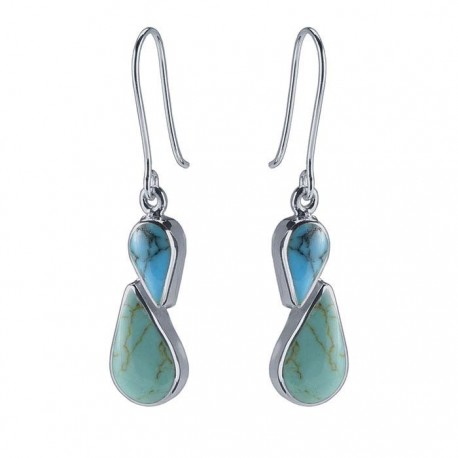 Sterling Silver Turquoise Pair of Earrings