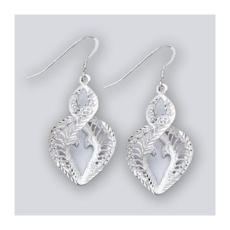 Sterling Silver Dangle Filigree Earrings