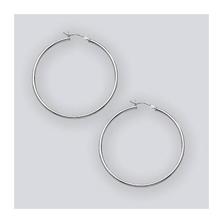 50 MM Hoop Earrings With Hinge Top