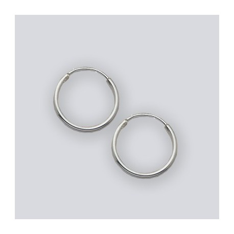 12 MM Endless Hoop Earrings