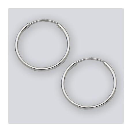 18 MM Sterling Silver Endless Hoop Earrings