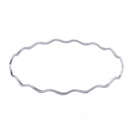 Sterling Silver Wave Bangle Bracelet