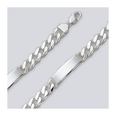 13.1 MM Sterling Silver Figaro Chain ID Bracelet