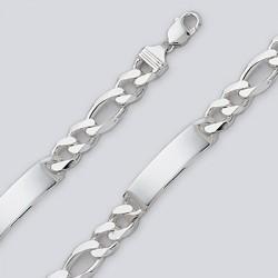 Sterling Silver ID Chain Bracelets