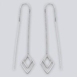 Sterling Silver Threaded Earrings